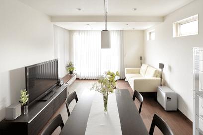 2.生活空間は、親世帯が1階、子世帯が2~3階と分離